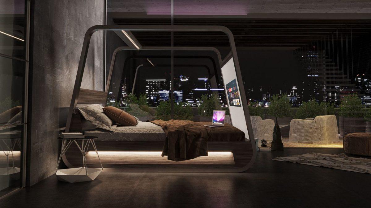 <b>Krevet</b> iz snova? Ima <b>projektor</b> s velikim ekranom i <b>zvučnike!</b>